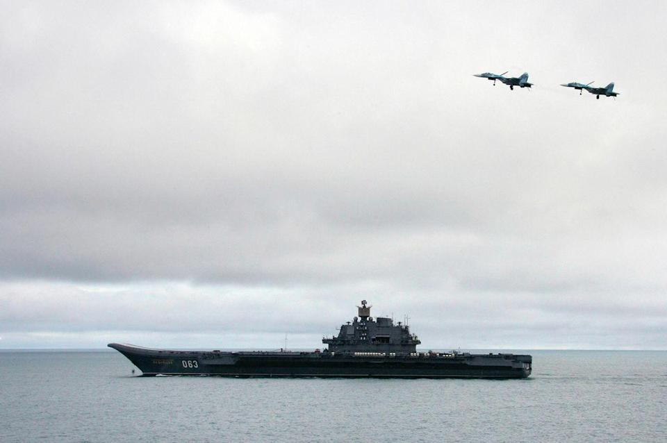 "<p>Russia has one aircraft carrier on active duty: the <em>Admiral Kuznetsov</em>. The carrier was built in what is now Ukraine, and after an extensive construction period complicated by the breakup of the Soviet Union, the ship was put into Russian service in 1991. Technically speaking, <em>Kuznetsov</em> is a sister ship of the Chinese carrier <em>Liaoning</em>.</p><p>Just over 1,000 feet long, <em>Kuznetsov</em> displaces 65,000 tons fully loaded. Her air wing consists of 18 <a href=""https://en.wikipedia.org/wiki/Sukhoi_Su-33"" rel=""nofollow noopener"" target=""_blank"" data-ylk=""slk:Su-33 Flanker-D interceptors"" class=""link rapid-noclick-resp"">Su-33 Flanker-D interceptors</a>, 4 <a href=""https://en.wikipedia.org/wiki/Su-25"" rel=""nofollow noopener"" target=""_blank"" data-ylk=""slk:Su-25 Frogfoot attack jets"" class=""link rapid-noclick-resp"">Su-25 Frogfoot attack jets</a>, two Ka-31RLD airborne early warning and control helicopters, and 15 Ka-27PL anti-submarine warfare helicopters. Unlike other aircraft carriers, <em>Kutznetsov</em> also packs a punch in the form of 12 <a href=""https://en.wikipedia.org/wiki/P-700_Granit"" rel=""nofollow noopener"" target=""_blank"" data-ylk=""slk:SS-N-19 Shipwreck"" class=""link rapid-noclick-resp"">SS-N-19 Shipwreck</a> supersonic anti-ship missiles and carries a naval version of the <a href=""https://en.wikipedia.org/wiki/Tor_missile_system"" rel=""nofollow noopener"" target=""_blank"" data-ylk=""slk:Tor surface-to-air missile"" class=""link rapid-noclick-resp"">Tor surface-to-air missile</a> for self-defense.</p><p><em>Admiral Kuznetsov</em> isn't particularly mechanically reliable, having broken down at sea in 2012. Like most large Russian Navy ships, the carrier is accompanied by an oceangoing tug whenever it conducts an overseas cruise. You know, just in case. <em>Admiral Kuznetsov</em> has also had its fair share of bad luck lately. The aircraft carrier survived a number of crashes (<a href=""https://www.popularmechanics.com/military/navy-ships/a24441193/russias-hard-luck-carrier-damaged-in-shipyard-accident/"" rel=""nofollow noopener"" target=""_blank"" data-ylk=""slk:including a shipyard accident in 2018"" class=""link rapid-noclick-resp"">including a shipyard accident in 2018</a>) and a fire, <a href=""https://www.popularmechanics.com/military/navy-ships/a30211682/admiral-kuznetsov-fire/"" rel=""nofollow noopener"" target=""_blank"" data-ylk=""slk:which broke out last year"" class=""link rapid-noclick-resp"">which broke out last year</a>. </p><p>Russia is planning to add to its fleet of one. The Russian Navy is reportedly surveying two possible designs to replace the <em>Kuznetsov</em>. Both designs, the 'Shtorm' and the 'Lamantin,' <a href=""https://www.forbes.com/sites/hisutton/2020/02/16/russias-next-aircraft-carrier-will-likely-be-nuclear/?sh=24595df66cc3"" rel=""nofollow noopener"" target=""_blank"" data-ylk=""slk:according to Forbes"" class=""link rapid-noclick-resp"">according to <em>Forbes</em></a>, have nuclear propulsion. </p>"