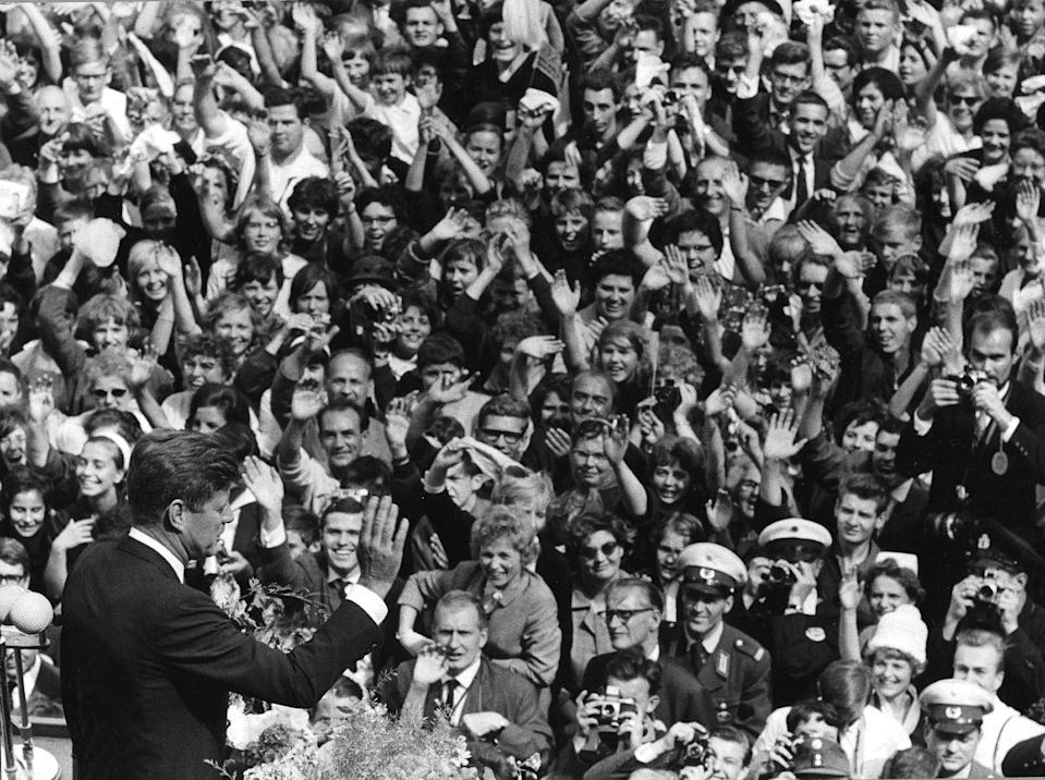 """<p>John's father distributed significant portions of his fortune to his children on a yearly basis, which was more than an adequate amount to fund JFK's living expenses. As a result, John <a href=""""http://www.history.com/news/history-lists/10-things-you-may-not-know-about-john-f-kennedy"""" rel=""""nofollow noopener"""" target=""""_blank"""" data-ylk=""""slk:donated"""" class=""""link rapid-noclick-resp"""">donated</a> his entire congressional and presidential salaries to various charities. </p>"""