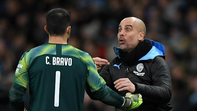 Claudio Bravo received a huge vote of confidence from Pep Guardiola who has decided the Chilean will line up against Aston Villa at Wembley.