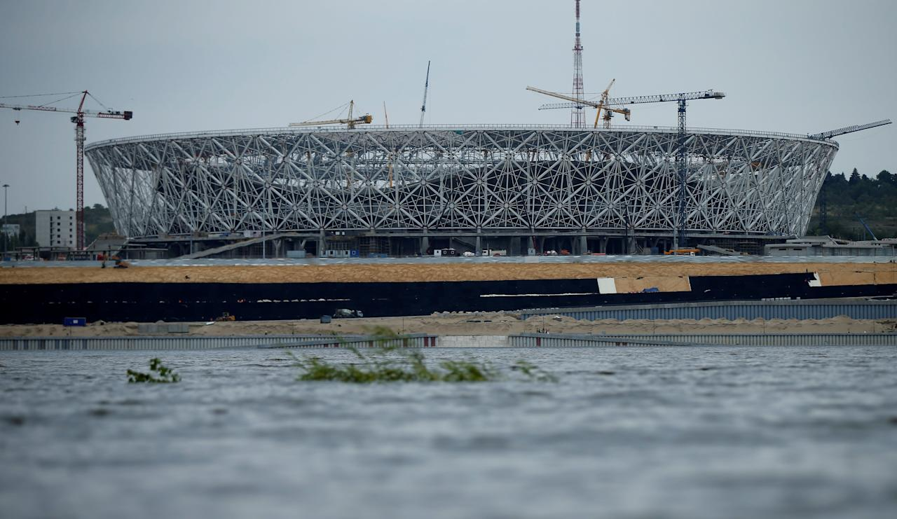 A general view shows a Volgograd Arena stadium under construction ahead of 2018 FIFA World Cup in Volgograd, Russia July 21, 2017. REUTERS/David Mdzinarishvili