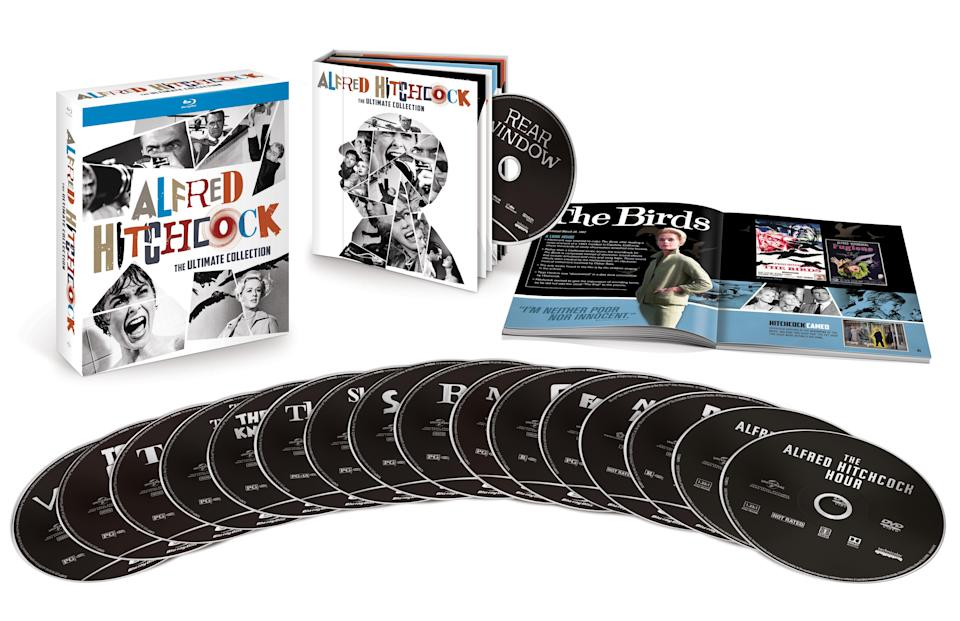 """<p>Of the dozens of box sets out this season, this one belongs at the top of every movie fan's list. The collection comprises 15 of Hitch's greatest hits <span> — </span>including <em>Psycho, The Birds, Rear Window, Vertigo</em> and <em>North by Northwest </em> — plus 10 classic episodes from his TV series <em>Alfred Hitchcock Presents</em> and <em>The Alfred Hitchcock Hour</em>, along with a 58-page collector book showcasing the Master of Suspense's oeuvre.<br><strong>Buy: <a href=""""https://www.target.com/p/alfred-hitchcock-ultimate-collection-blu-ray/-/A-52918343"""" rel=""""nofollow noopener"""" target=""""_blank"""" data-ylk=""""slk:Target"""" class=""""link rapid-noclick-resp"""">Target</a></strong> </p>"""