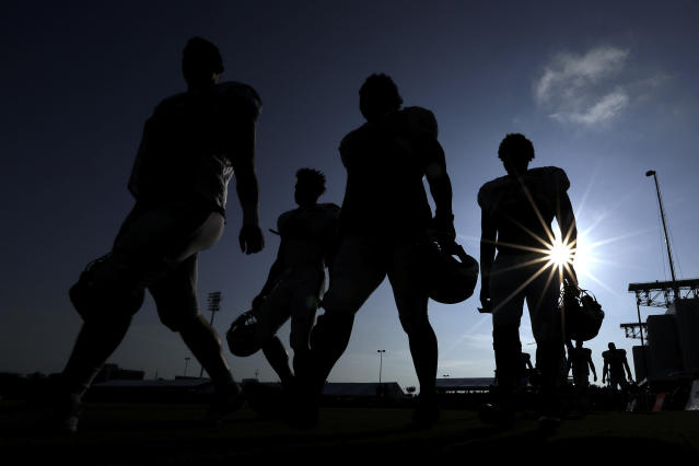 The NFL is pressing on with training camp, which is slated to begin on July 28. (AP Photo/David J. Phillip)