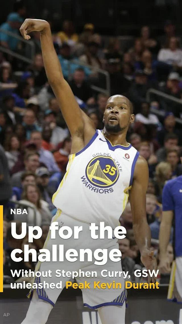 With Stephen Curry sidelined, Warriors coach Steve Kerr allowed Peak Kevin Durant to be unleashed.