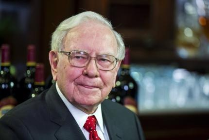 Warren Buffett, Chairman, CEO and largest shareholder of Berkshire Hathaway takes part in interviews before a fundraising luncheon for the nonprofit Glide Foundation in New York