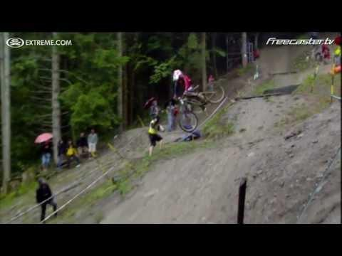 "<p>Danny Hart's downhill run at the 2011 Mountain Bike World Championships was legendary. As one announcer put it, ""How does Danny Hart sit down with balls that big?"" </p><p><span>See the original post on Youtube</span></p>"