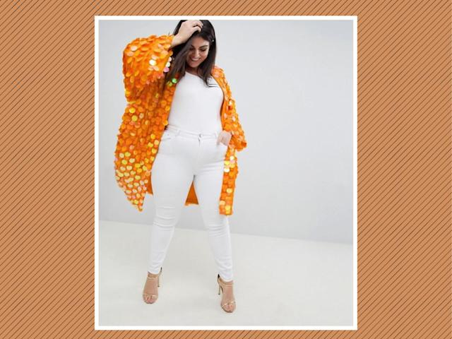 "<p>ASOS Design Curve Bright Sequin Kimono, $119, <a href=""http://us.asos.com/asos-curve/asos-design-curve-bright-sequin-kimono/prd/9120837?clr=orange&SearchQuery=&cid=9578&gridcolumn=1&gridrow=3&gridsize=4&pge=1&pgesize=72&totalstyles=12"" rel=""nofollow noopener"" target=""_blank"" data-ylk=""slk:ASOS"" class=""link rapid-noclick-resp"">ASOS</a> (Photo: ASOS) </p>"