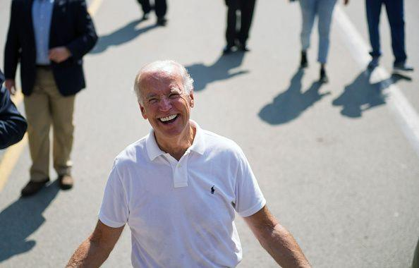 <p>Biden walks in the annual Allegheny County Labor Day Parade Monday September 7, 2015 in Pittsburgh, Pennsylvania. At the time, speculation mounted regarding whether Biden would run for president in 2016, which he ultimately did not. Hillary Clinton received the democratic nomination, and lost to Donald Trump. </p>