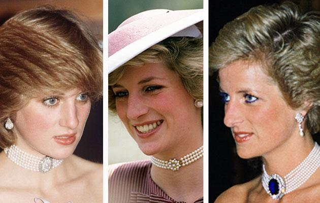 Diana had a few pearl chokers of her own. Photo: Getty