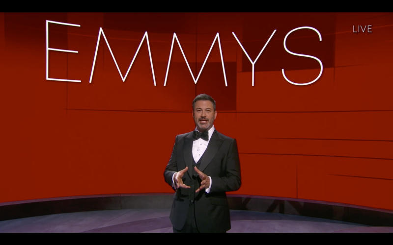 "Hosted by Jimmy Kimmel, the ""72nd Emmy® Awards"" will broadcast SUNDAY, SEPT. 20 (8:00 p.m. EDT/6:00 p.m. MDT/5:00 p.m. PDT), on ABC. (ABC via Getty Images)JIMMY KIMMEL"