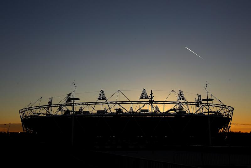 A general view of the Olympic stadium on February 23, 2012 in London, England