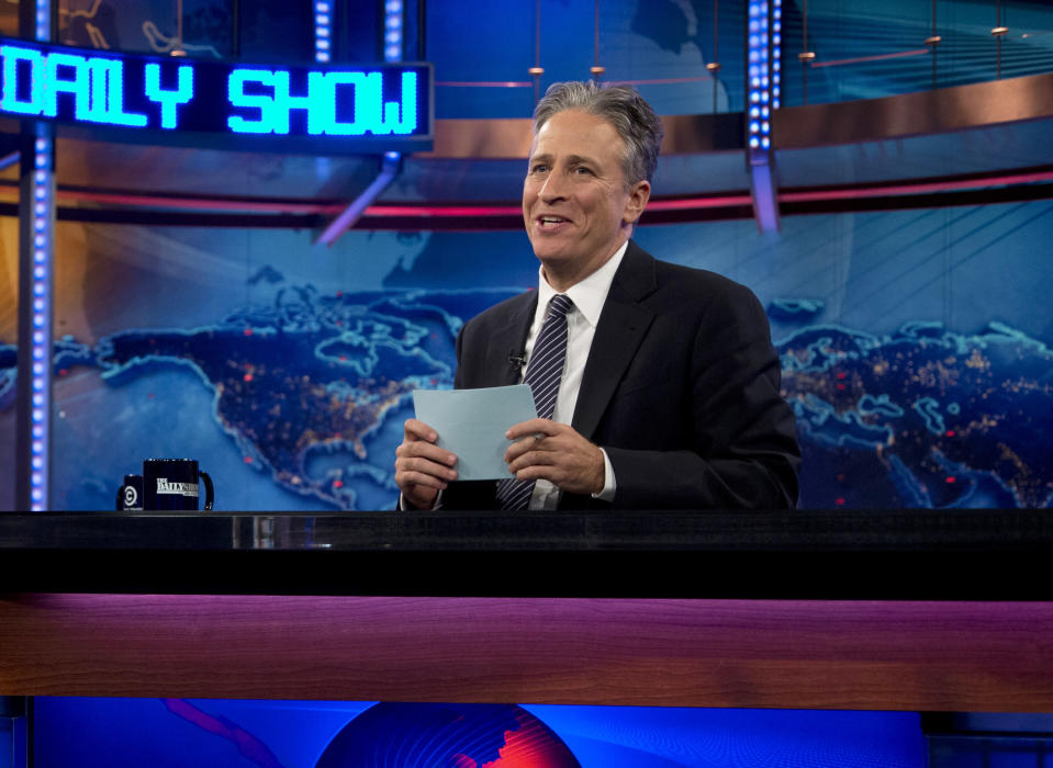 Jon Stewart during a taping of