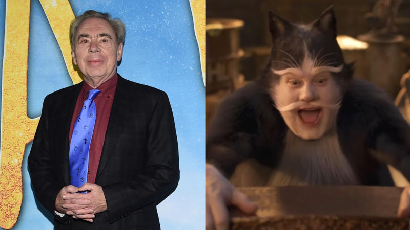 Andrew Lloyd Webber has criticised James Corden's musical number in the movie version of 'Cats'. (Credit: Evan Agostini/Invision/AP/Universal)