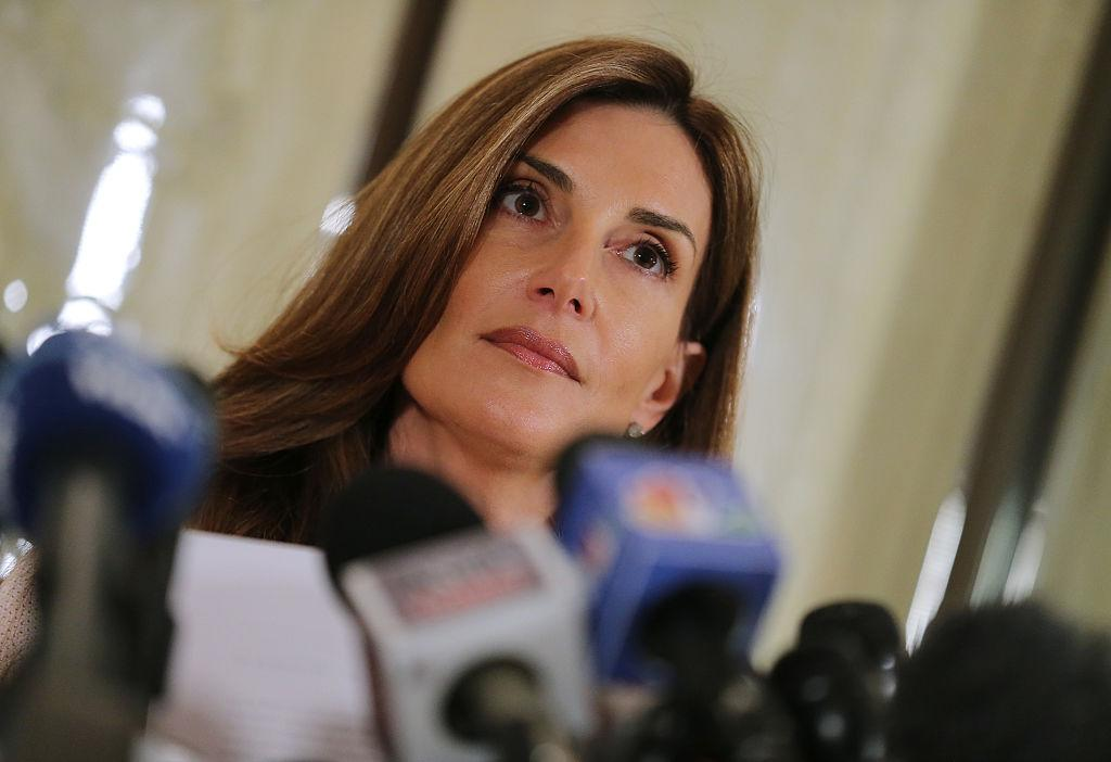 <p>Karena Virginia identified herself as victim of sexual misconduct by Donald Trump. She stated that she was a victim of inappropriate contact during an encounter with Donald Trump at the 1998 U.S. Open Tennis Tournament in the Flushing neighborhood of the Queens borough of New York City. Photo – Getty Images </p>