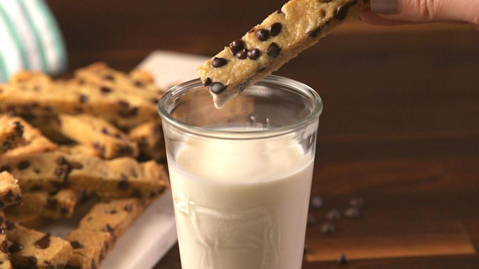 """<p>All the more easy to dunk in your milk.</p><p>Get the recipe from <a href=""""https://www.delish.com/cooking/recipe-ideas/recipes/a57360/chocolate-chip-cookie-dippers-recipe/"""" rel=""""nofollow noopener"""" target=""""_blank"""" data-ylk=""""slk:Delish"""" class=""""link rapid-noclick-resp"""">Delish</a>.</p>"""