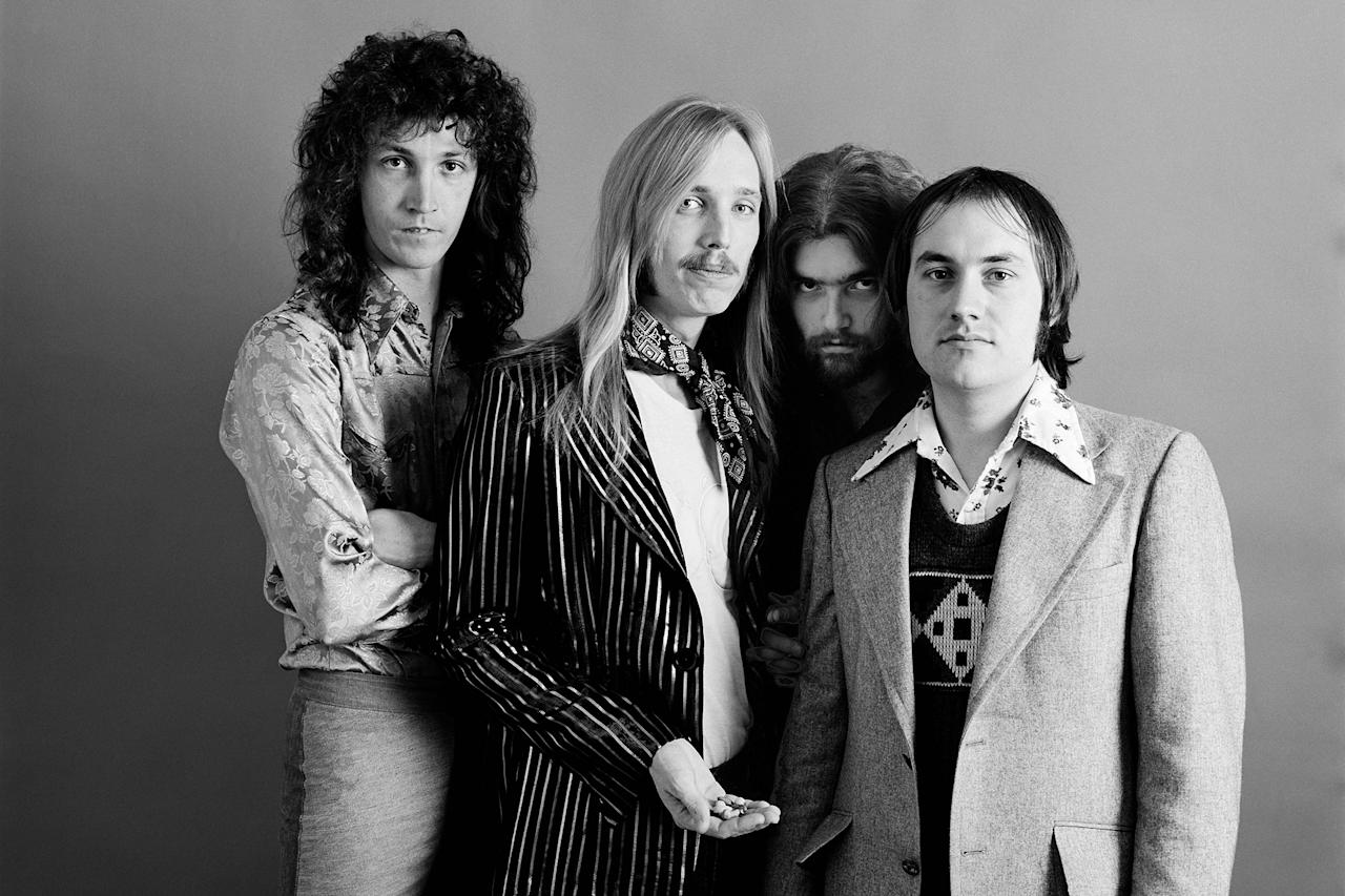 <p>From left: Mike Campbell, Tom Petty, Tom Leadon, and Randall Marsh of Mudcrutch in December 1974 in Los Angeles. (Photo: Jim McCrary/Getty Images) </p>