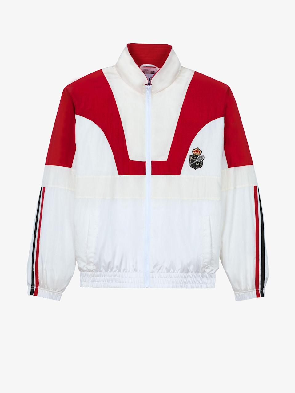 """<p><strong>Sergio Tacchini</strong></p><p>sergiotacchini.com</p><p><strong>$225.00</strong></p><p><a href=""""https://go.skimresources.com?id=74968X1525079&xs=1&url=https%3A%2F%2Fwww.sergiotacchini.com%2Fcollections%2Fmonte-carlo-collection-1%2Fproducts%2Frainier-tracksuit-blanc-de-blanc-tango-red"""" rel=""""nofollow noopener"""" target=""""_blank"""" data-ylk=""""slk:Shop Now"""" class=""""link rapid-noclick-resp"""">Shop Now</a></p><p>If the dad in your life is a fan of athleisure, he'll love Sergio Tacchini's two-piece tracksuit. Part of the brand's Monte Carlo Collection, the set's color-block design gives it a distinct retro feel. </p>"""