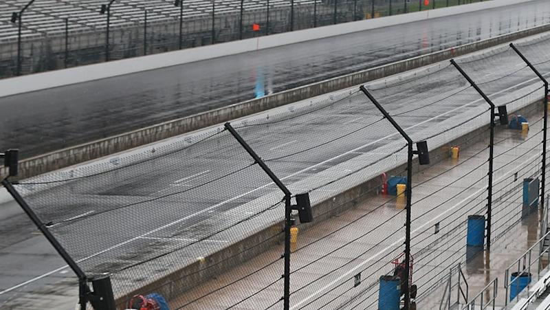 Rain forces postponement at Indy, sets up Monday NASCAR doubleheader