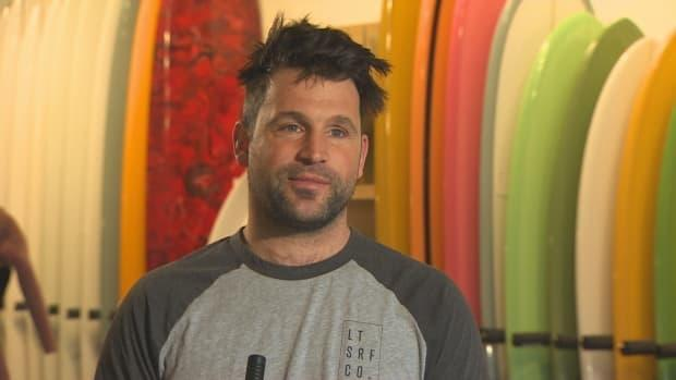 Nico Manos, co-owner of the Lawrencetown Surf Company, says visitors from other Atlantic provinces last year 'essentially kept us in business.'