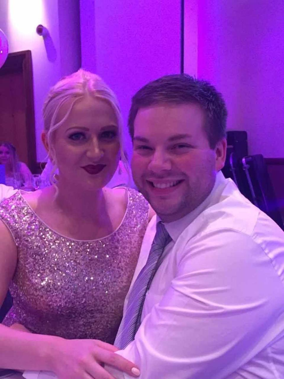 Rhys with a friend at an awards evening in 2018, prior to his weight loss. PA REAL LIFE