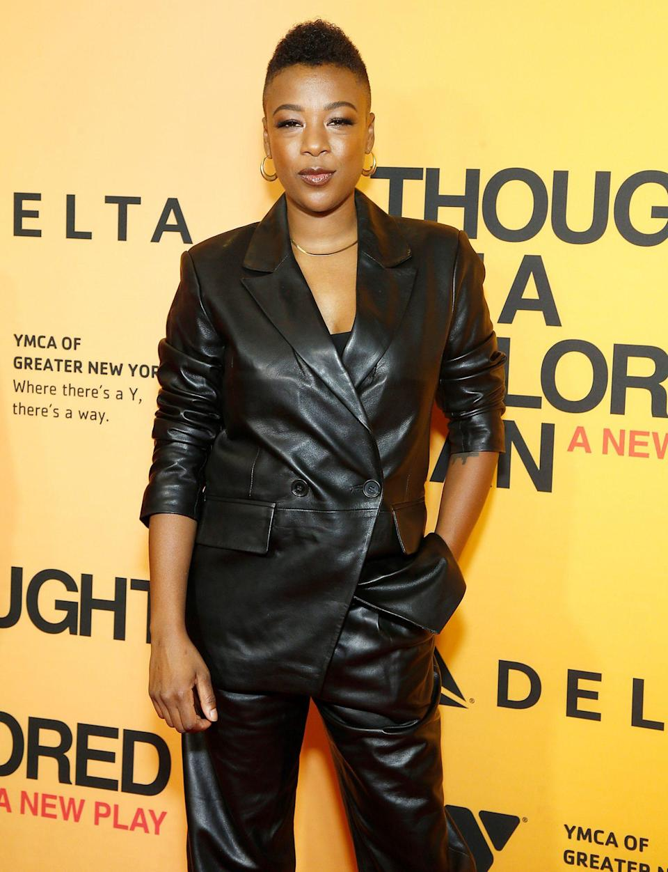 <p>Samira Wiley stuns at <em>Thoughts of a Colored Man</em> opening night at the Golden Theatre on Oct. 13 in N.Y.C.</p>