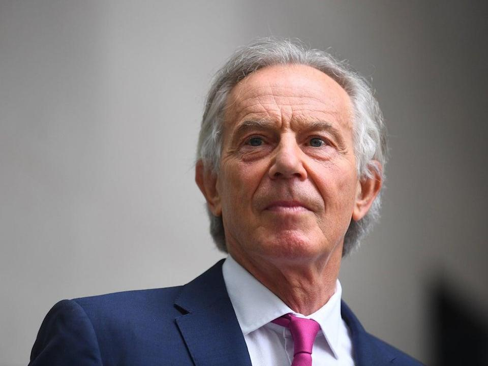 Tony Blair, who sent soldiers into Afghanistan 20 years ago, said withdrawal of troops is 'dangerous' (PA)