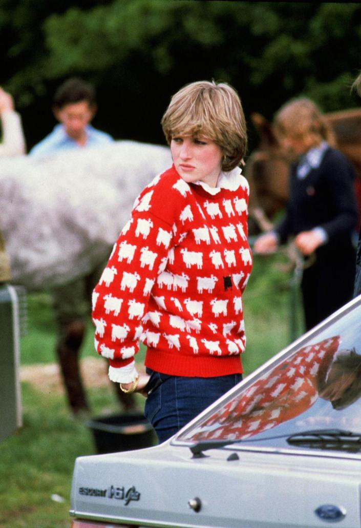 """<p>People think <a href=""""https://people.com/royals/princess-diana-black-sheep-sweater/"""" rel=""""nofollow noopener"""" target=""""_blank"""" data-ylk=""""slk:the princess's black sheep sweater was a signal"""" class=""""link rapid-noclick-resp"""">the princess's black sheep sweater was a signal</a> that she felt like she didn't fit in with the royal family. """"I don't think many people would want me to be queen, and when I say many people, I mean the establishment that I'm married into,"""" Princess Diana <a href=""""https://www.youtube.com/watch?v=7jR52mrlvkg"""" rel=""""nofollow noopener"""" target=""""_blank"""" data-ylk=""""slk:said in a 1995 interview"""" class=""""link rapid-noclick-resp"""">said in a 1995 interview</a>.</p>"""