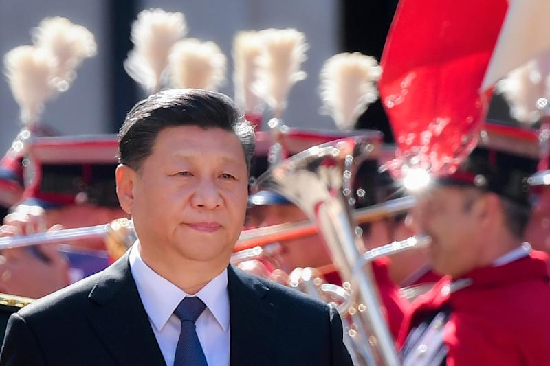 Italy rolled out the red carpet for Chinese President Xi Jinping (AFP Photo/Tiziana FABI)