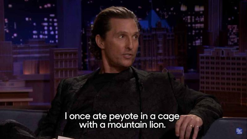 Matthew McConaughey Once Did Peyote With a Mountain Lion (Exclusive)