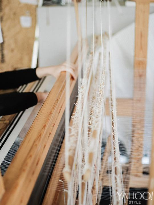 <p>Several pieces from the spring/summer 2015 collection, including distorted, reimagined polo shirts, were woven on these looms.</p>