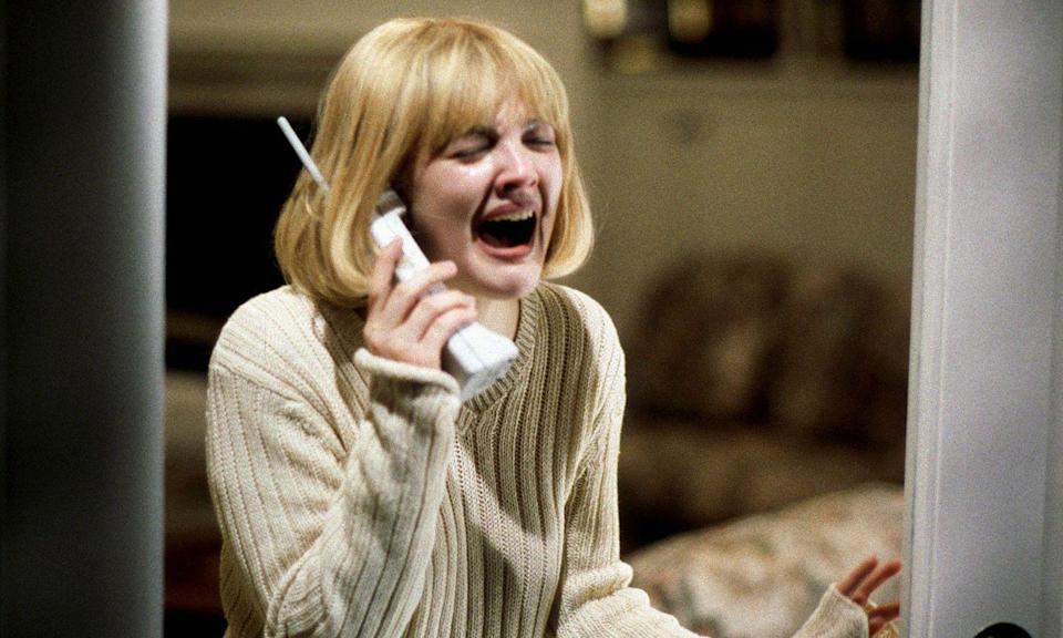 <p>Talking on the telephone is so horrifying that they based a whole movie around it. Who among us doesn't scream in terror every time that thing rings? Ew, send an email! This launched both a triumphant comeback for Drew Barrymore and a teen-slasher franchise that was surprisingly fun. </p>