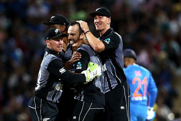 New Zealand clinched the decider by four runs and won the T20I series 2-1
