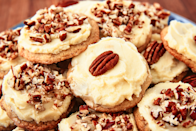 """<p>Warm yourself up for all the <a href=""""https://www.delish.com/holiday-recipes/christmas/g2177/easy-christmas-cookies/"""" rel=""""nofollow noopener"""" target=""""_blank"""" data-ylk=""""slk:holiday baking"""" class=""""link rapid-noclick-resp"""">holiday baking</a> to come with these crazy good fall cookies. From pumpkin to molasses to butter pecan, these are the flavors of fall you've been missing. For even more seasonal recipes, check out our favorite <a href=""""https://www.delish.com/cooking/g2021/fall-dessert-recipes/"""" rel=""""nofollow noopener"""" target=""""_blank"""" data-ylk=""""slk:fall desserts"""" class=""""link rapid-noclick-resp"""">fall desserts</a> and <a href=""""https://www.delish.com/cooking/recipe-ideas/g2961/cider-cocktails/"""" rel=""""nofollow noopener"""" target=""""_blank"""" data-ylk=""""slk:cider cocktails"""" class=""""link rapid-noclick-resp"""">cider cocktails</a>.</p>"""