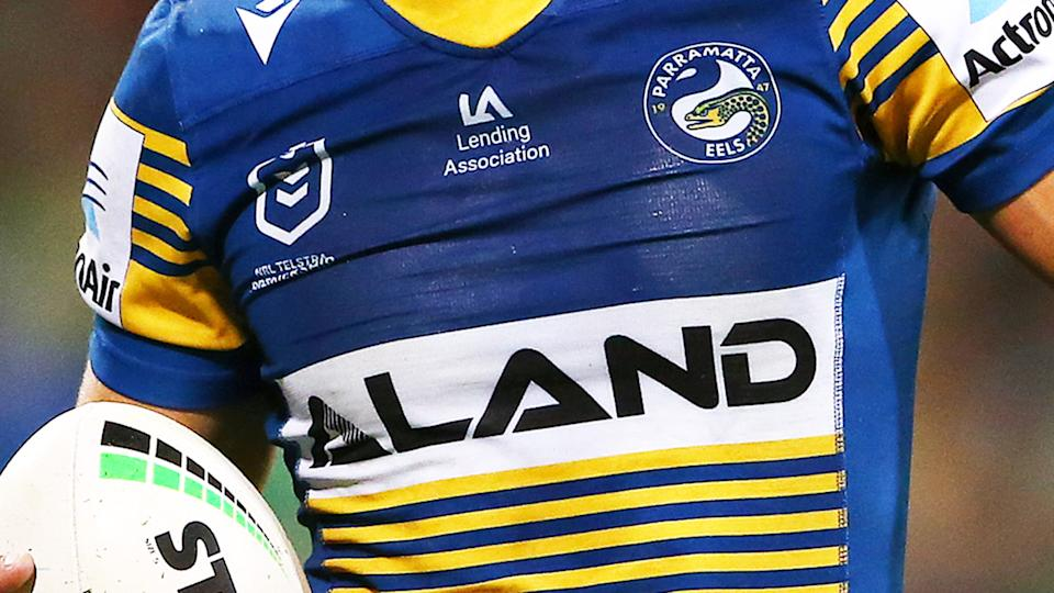 A Parramatta Eels player, pictured here in action in the NRL.