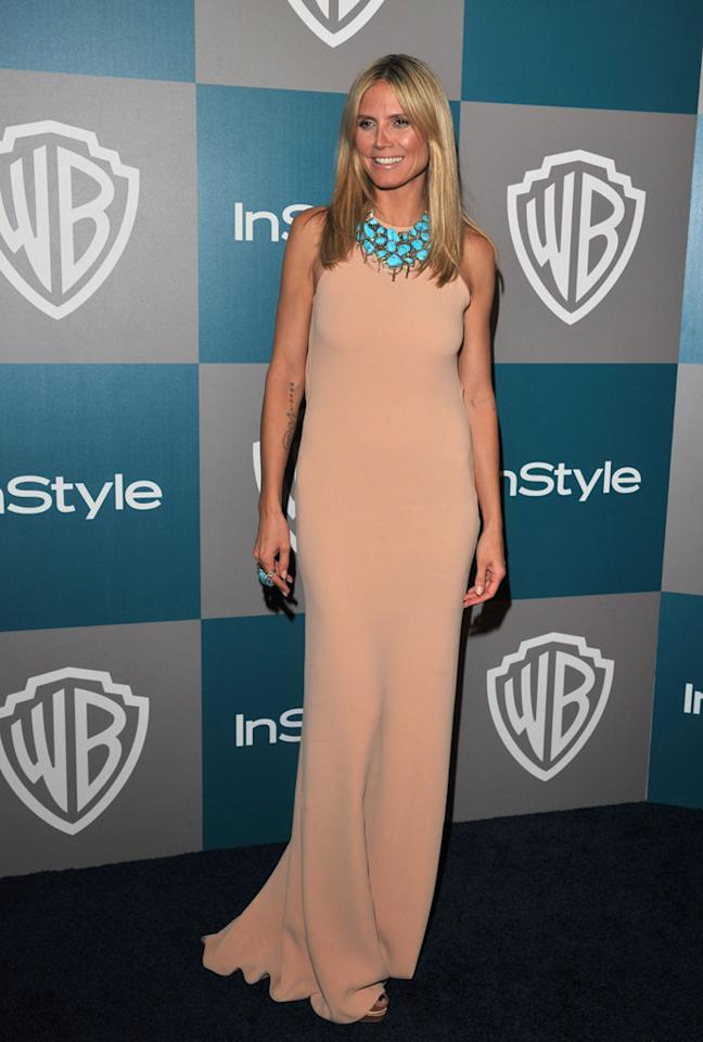 Heidi Klum arrives at the 13th Annual Warner Bros. and InStyle Golden Globe After Party held at The Beverly Hilton hotel on January 15, 2012 in Beverly Hills, California.