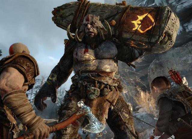 Atreaus will help Kratos in battle, but the demigod still does the heavy lifting.