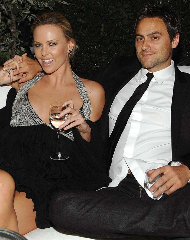"""Oscar winner Charlize Theron and her beau, Stuart Townsend, have been together for years, but have pledged that they won't marry until gays are legally granted the right to marry in the United States. John Shearer/<a href=""""http://www.wireimage.com"""" target=""""new"""">WireImage.com</a> - May 6, 2008"""