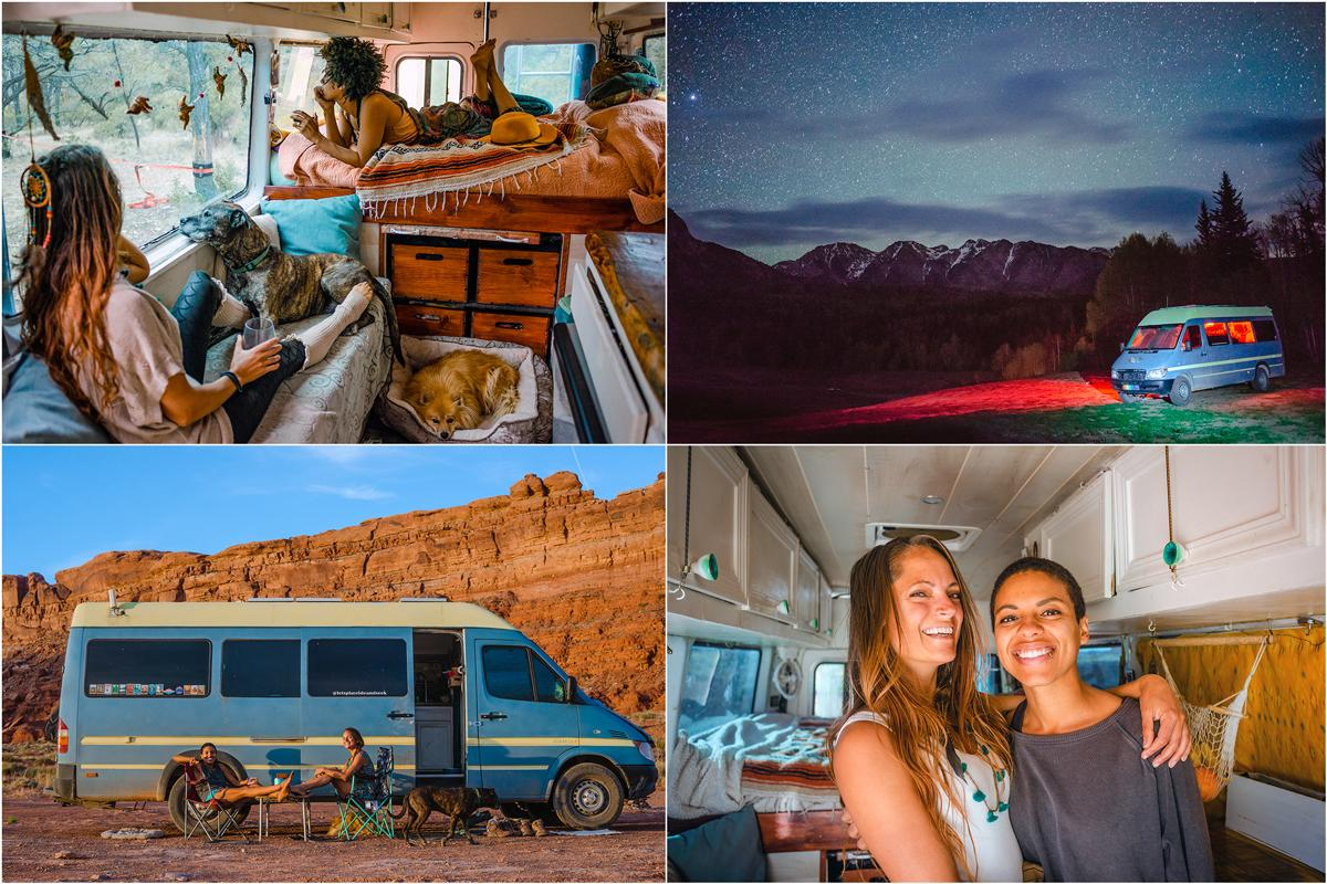 Natalie and Abigail Rodriquez saved up about $25,000 so they could enjoy their first year on the road without working. They've visited places such as Colorado, top right photo, and Utah, bottom left photo. Photo courtesy of Abigail Rodriquez