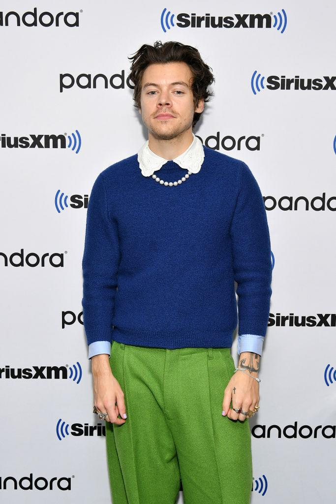 Harry Styles loves to push fashion boundaries, pictured here in New York earlier this month. (Getty Images)