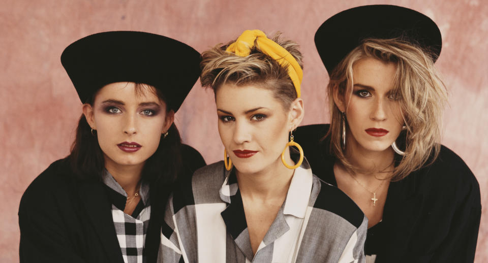 Bananarama said they had to fight against sexism when they first started out. (Michael Putland/Getty Images)
