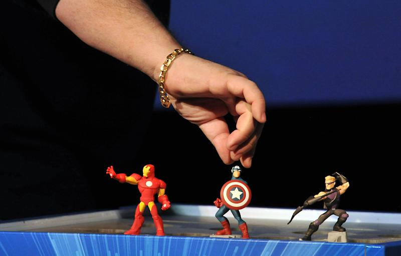Marvel Chief Creative Officer Joe Quesada introduces the Marvel characters at Disney Infinity 2.0 launch at Pacific Theatres Cinerama Dome on Wednesday, April 30, 2014 in the Hollywood section of Los Angeles. (Photo by Katy Winn/Invision/AP)