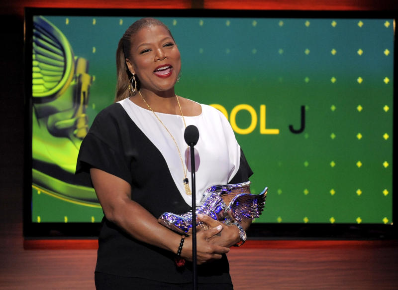 Queen Latifah speaks on stage at the Do Something Awards at the Avalon on Wednesday, July 31, 2013, in Los Angeles. (Photo by Chris Pizzello/Invision/AP)