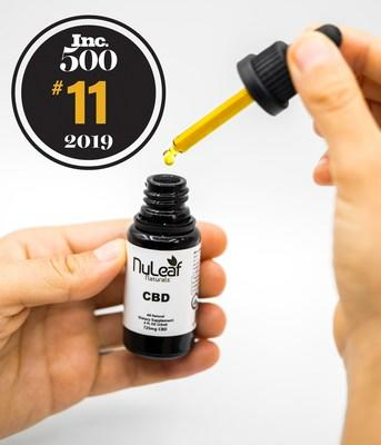 Denver based NuLeaf Naturals honored as #11 on the 2019 Inc. 5,000 fastest growing companies in the USA. NuLeaf Naturals is a leading manufacturer of pure CBD Oil and was ranked #1 in Colorado, #3 in Consumer Products.