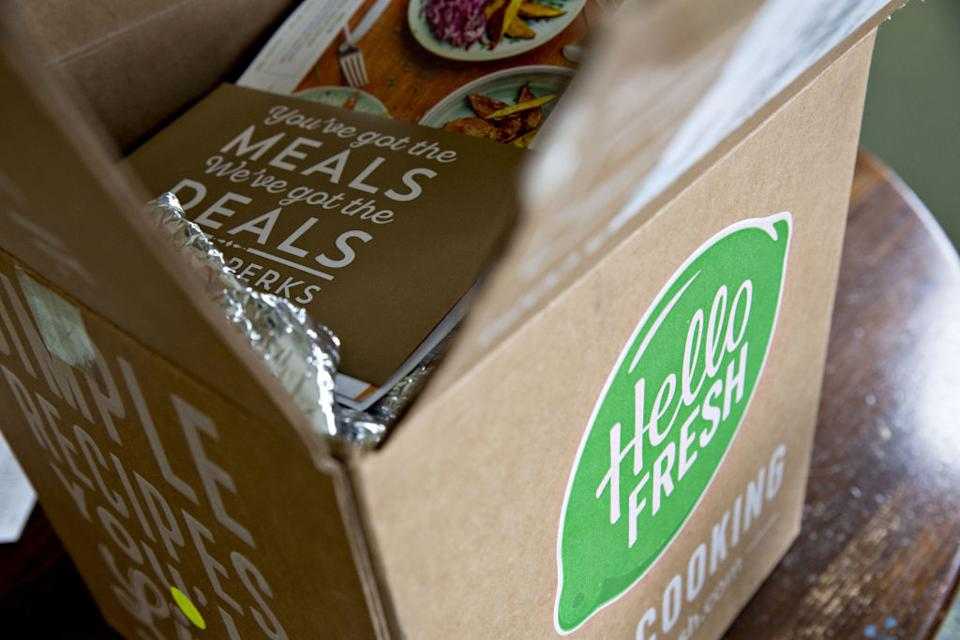 A Hello Fresh meal kit delivery box. Source: Getty