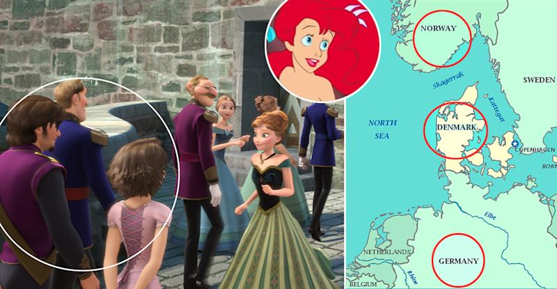 The Secret FrozenTangledMermaid Connection And Other - Pixar movies connected