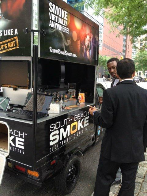 South Beach Smoke Mobile Showroom Offers Electronic Cigarette Samples Throughout New York City