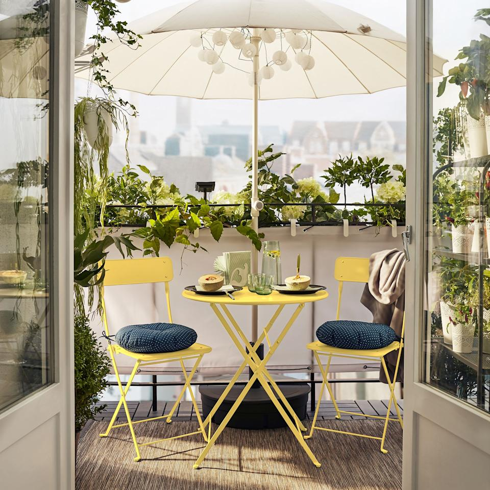 """<p><strong>Finding <a href=""""https://www.housebeautiful.com/uk/garden/g21058049/outdoor-garden-furniture-sets/"""">outdoor garden furniture</a> for a <a href=""""https://www.housebeautiful.com/uk/garden/designs/how-to/a781/balcony-garden-guide/"""">balcony</a> can often be a struggle (especially when most balconies are small in size), but there are plenty of ways to utilise the space you do have with brilliant compact pieces. </strong></p><p>From balcony tables and chairs to half-tables and foldaway chairs, these are the best items to buy for your balcony, whatever size it may be. While you might not have a garden, it doesn't mean you can't make your balcony a beautiful outdoor haven to sit and enjoy in the summer. Alfresco dining never looked better.</p>"""