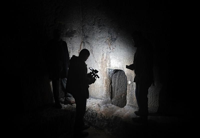 Jews consider the French-owned tomb a holy burial site of ancient ancestors (AFP Photo/THOMAS COEX)