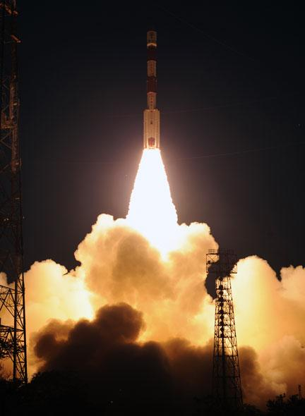 It took 2200 Watts and hydrazine thrusters to lift off in a cloud of fire, smoke and glory.
