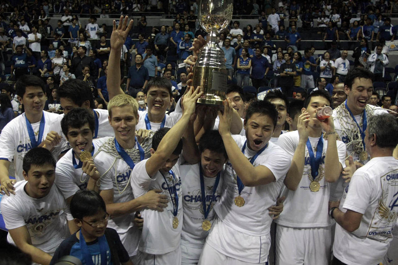 Ateneo Blue Eagles won its fourth straight championship title in the UAAP Season 74 over FEU Tamaraws held at Smart Araneta Coliseum, Quezon City. (Red Santos/NPPA Images)