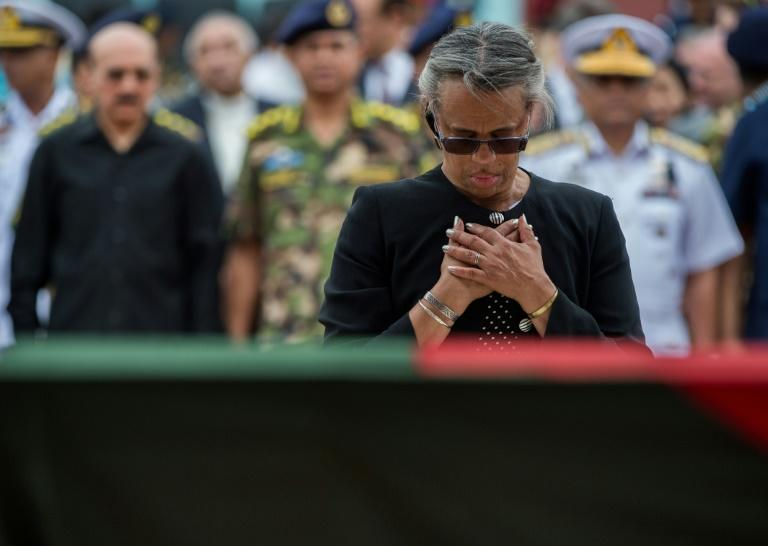 Marcia Bernicat, seen here at a 2016 memorial service when she was US ambassador to Bangladesh, will represent the United States at a UN climate summit attended by world leaders